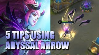 SELENA SKILL GUIDE HOW TO USE ABYSSAL ARROW - MOBILE LEGENDS