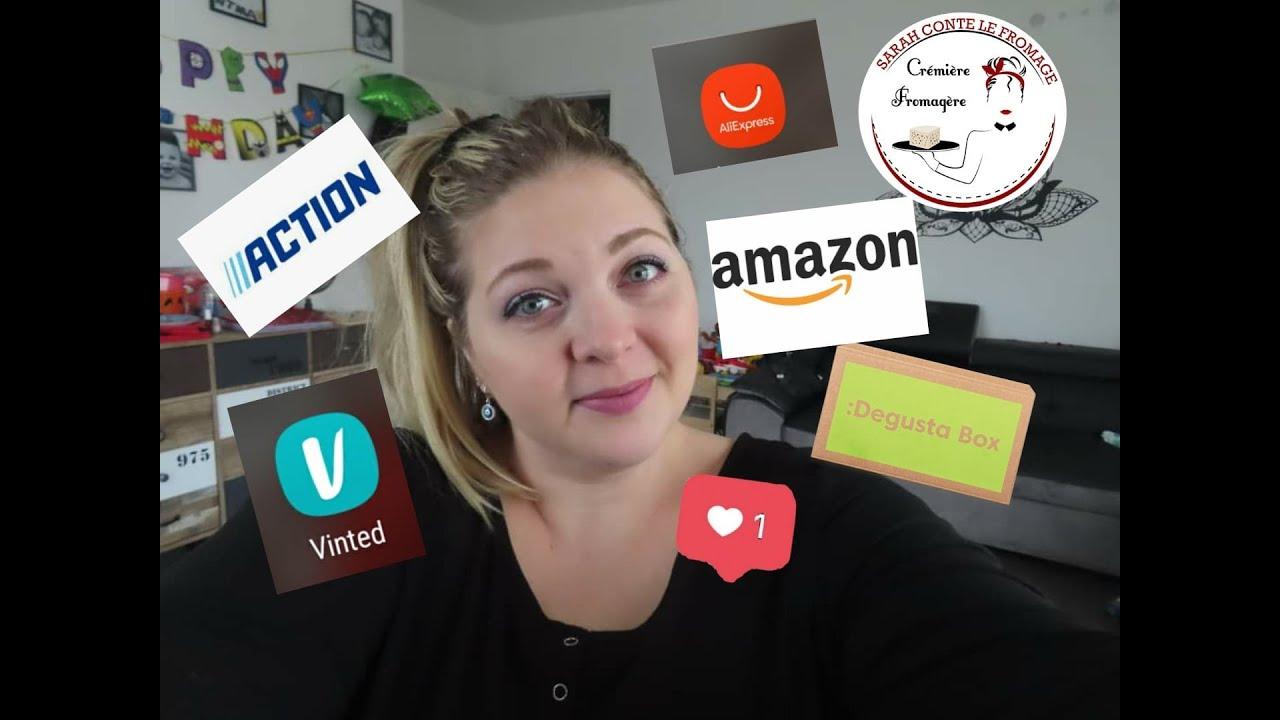 VLOG#80 : Haul Action, Vinted, Aliexpress, Degustabox, Sarahcontelefromage, Amazon