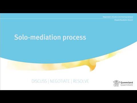 Dispute Resolution Branch – Solo mediation process