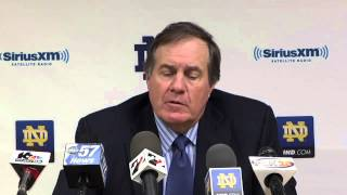 Bill Belichick Notre Dame Football Coaches Clinic Presser