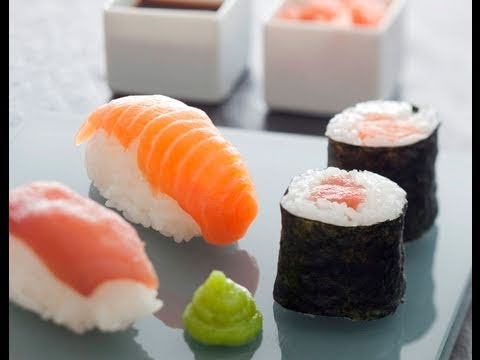 recette de sushis et makis de thon et saumon youtube. Black Bedroom Furniture Sets. Home Design Ideas