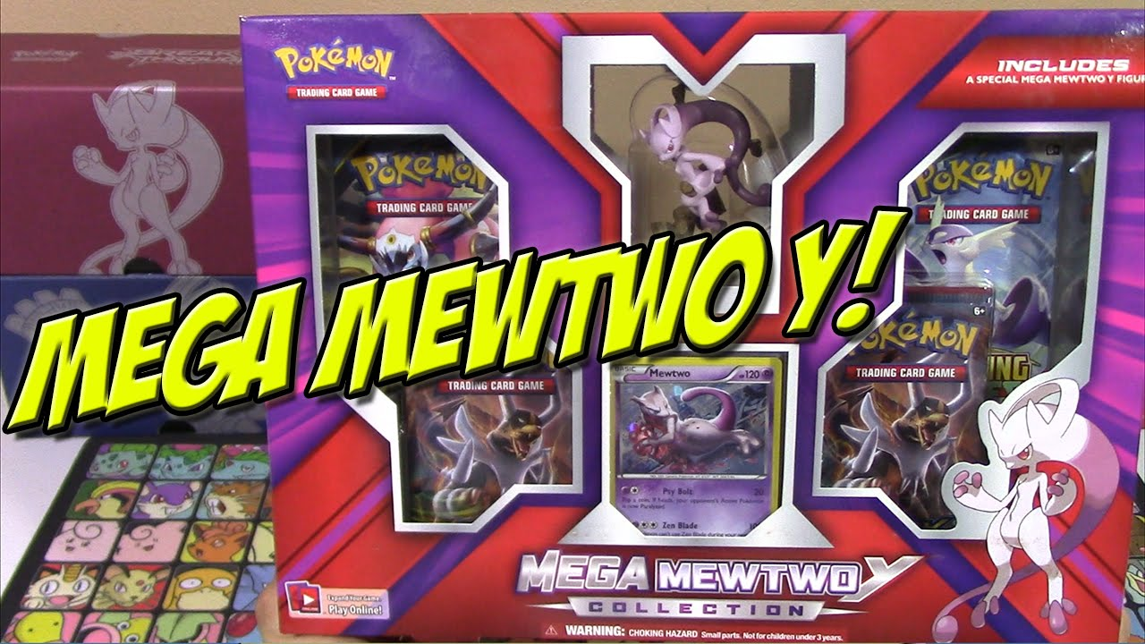Pokemon Cards Mega Mewtwo Y Collection Box Opening Youtube