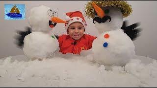 Домашние Сражения Снеговиков - Вечеринка для тех кто не ТАЕт зимой - Снежный Челлендж Мастер Славика