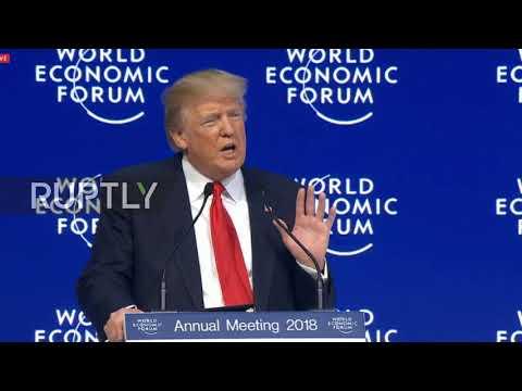 Switzerland: Trump tells Davos 'America is open for business'
