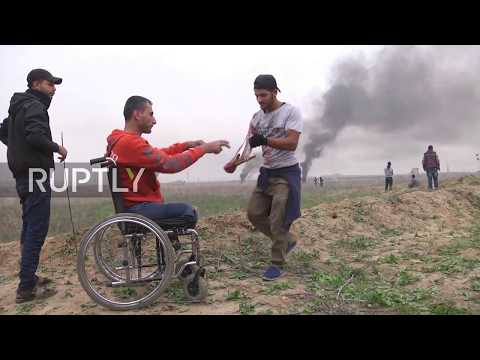 State of Palestine: Two dead, dozens injured in clashes at Gaza border