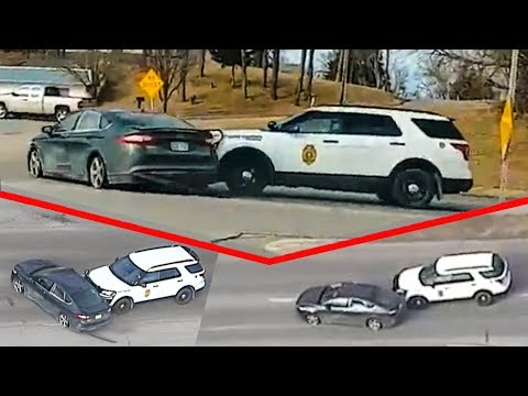 The pursuit of police behind the killer at Ford Fusion