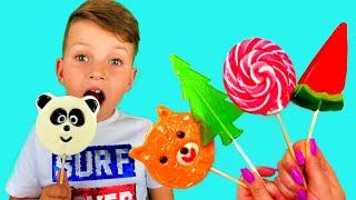 Mark pretend play with Fruit Candy  동요와 아이 노래  어린이 교육