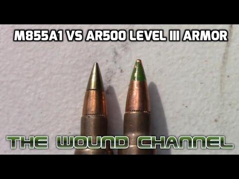 M855A1 vs Level III AR500 Armor