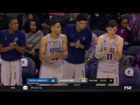 Georgetown vs Central Connecticut Highlights: #BIGEASThoops
