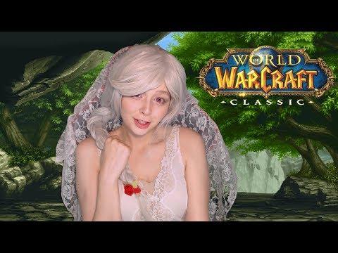 Девушка играет World of Warcraft Classic маг качаем до 60 лвл Пламегор