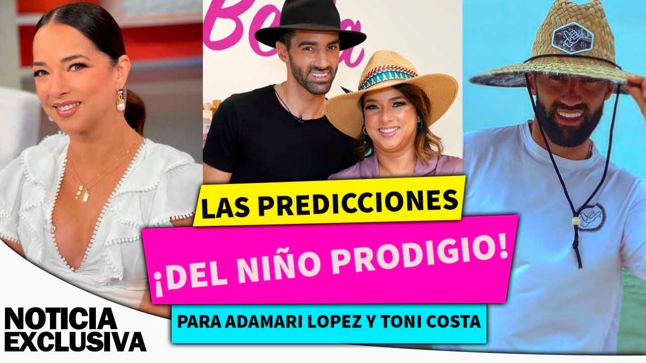 """Las predicciones de El niño Prodigio para Adamari López y Toni Costa: A ella le sale """"un hombre"""""""
