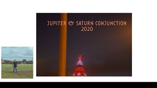 Jupiter and Saturn Great conjunction over blackpool tower