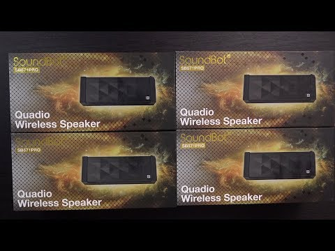Pair 4 Bluetooth Speakers Together! SoundBot Quadio SB571PRO