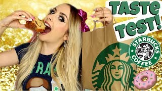 TRYING STARBUCKS FOOD ITEMS!!!