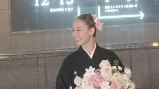 2018年11月18日 東京宝塚劇場月組千秋楽、愛希れいかさんの出待ちです。