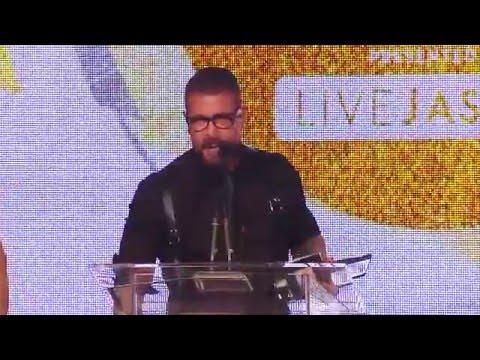 2016 XBIZ Awards - Rocco Steele Wins 'Gay Performer Of The Year' Award