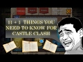 11+1 Beginner F2P Things You NEED To Know Castle Clash