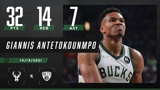 Giannis DOMINATES with 32 PTS & 14 REB in Opening Night vs Brooklyn Nets 🔥