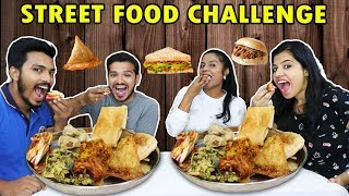 INDIAN STREET FOOD CHALLENGE | MUMBAI,DELHI,AHMADABAD STREET FOOD EATING COMPETITION