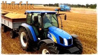 Żniwa 2012 II Bizon Rekord Z 058 & New Holland t5050 & Ursus c330 // MafiaSolec