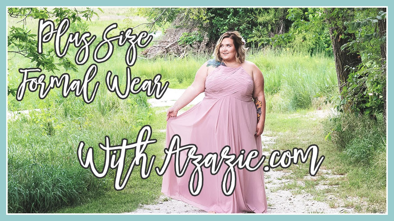 cc743e27e057 Plus Size Gowns from Azazie.com || Clothing haul - YouTube