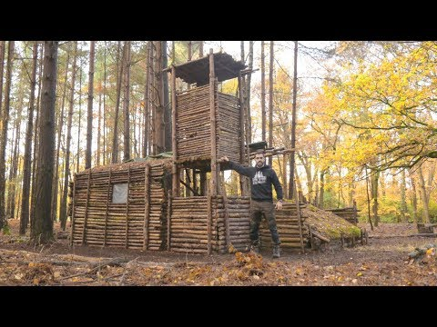 Bushcraft Camp: Full Super Shelter Tour (DETAILED)