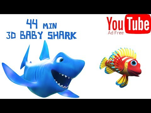 3D Baby Shark Song ★★★ Ad FREE 44Min 🐠