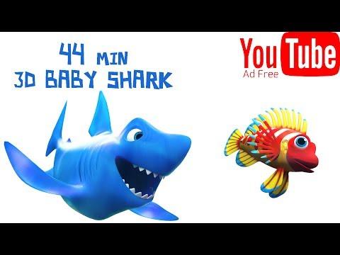 3D Baby Shark Song ★★★ Ad FREE 44Min 🐠