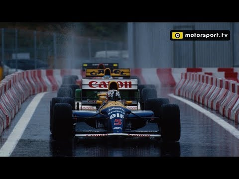 Being chased by Schumacher in the rain - Nigel Mansell