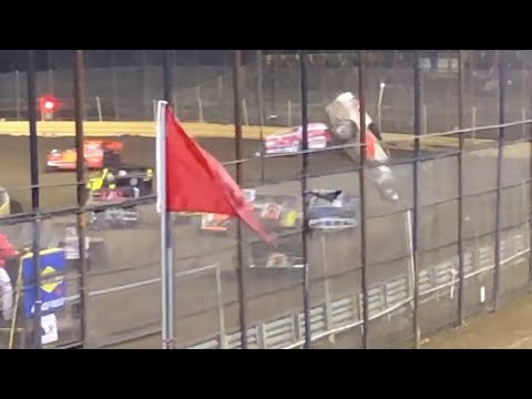 Wild Dirt Modified Flip At New Egypt Speedway 4-19-19