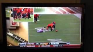 Stanford Cardinal WR Chris Owusu Injury Against Oregon State Beavers 11/5/11