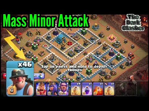 Mass Miner Attacks On Max Townhall 12 || COC Th12 Update