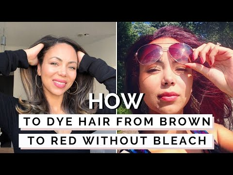 How To Dye Dark Hair Red Without Bleach  L39Oreal HiColor HiLights  YouTube