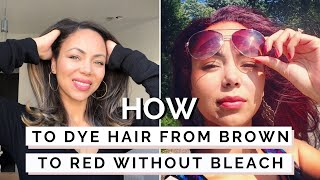 How To Dye Dark Hair Red Without Bleach | L'Oreal HiColor HiLights Thumbnail