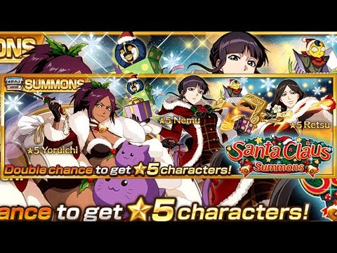 Bleach Brave Souls: Summons Natal!!! Santa Claus Retsu, Nemu e Yoruichi Gameplays!!! - Omega Play