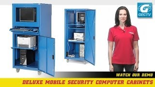 Mobile Security Computer Cabinets - Deluxe