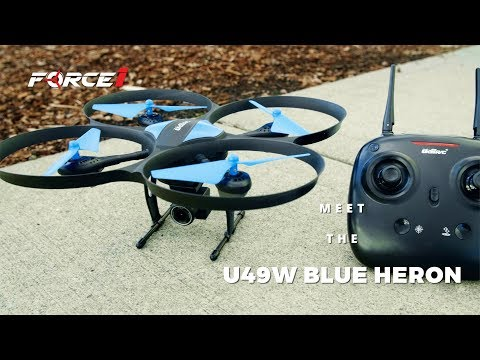 Blue Heron Wi-Fi FPV HD Camera Drone | Beginner RC U49WF Quadcopter | Force1