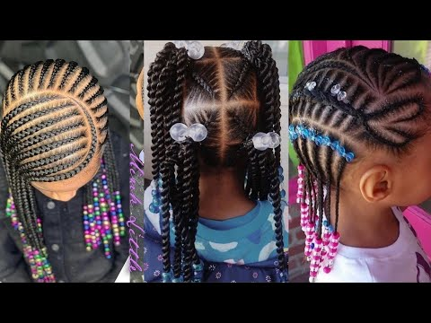 50-braids-hairstyles:-baby-girls-cornrows-braids-hairstyles💖💖🔥2020-kids-hairstyles