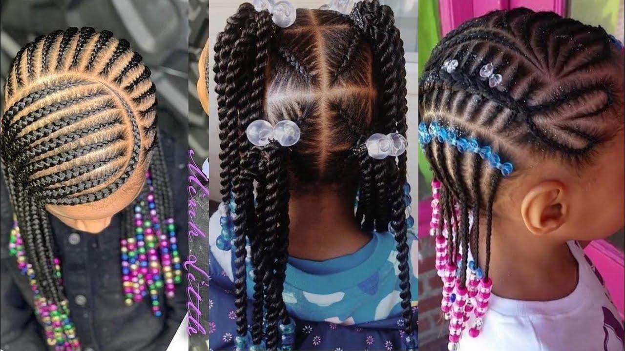 50 Braids Hairstyles Baby Girls Cornrows Braids Hairstyles 2020 Kids Hairstyles Youtube