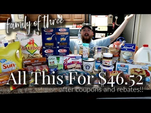 FAMILY OF 3 *Strict budget* GROCERY HAUL │ Couponing + Rebates