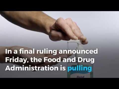 FDA bans 19 chemicals in antibacterial soap