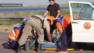 Accidente de un remis: pasajera fue hospitalizada