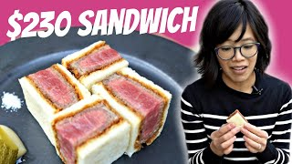 $230 Sandwich - 🇯🇵Wagyumafia Kobe Chateaubriand Cutlet Sando - The Most Expensive Sandwich?