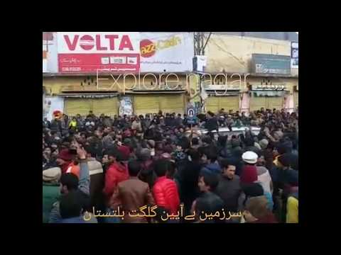Protest against with holding tax in gilgit baltistan. - Gunda Tax 2017
