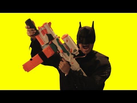 Nerf War: BATMAN STRIKES | SuperHeroes in Real Life!