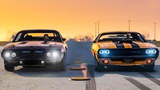 GUERRA DE CLÁSSICOS - Dodge Challenger vs Plymouth GTX, Qual é o melhor? - GTA 5 MODS