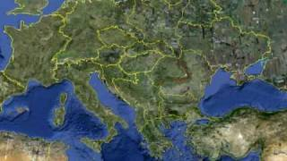 Google Earth - New European map ! Free HD Video