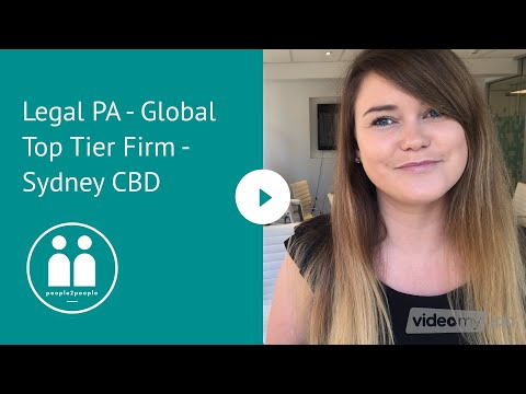 Legal PA - Global Top Tier Firm - Sydney CBD