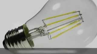 Ampoule led filament E27, 6W, dimmable, lumière du jour
