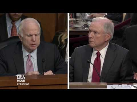 McCain to Sessions: 'I don't recall you' showing interest in Russia as senator